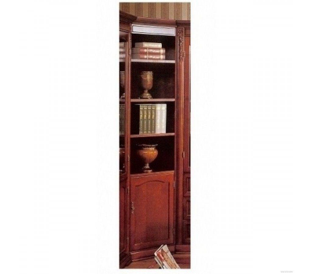 C05. шкаф книжный угловой (вишня) - арива мебель екатеринбур.